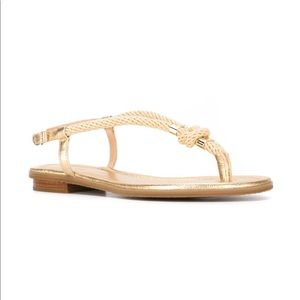 Michael Kors Gold Rope Sandals Size 9